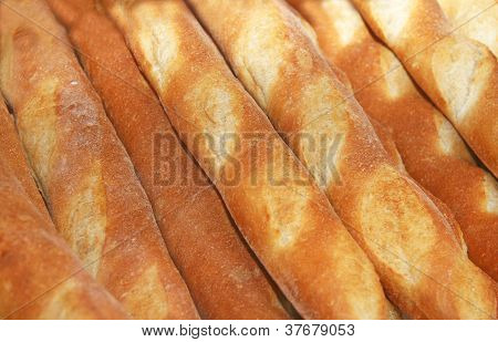 Baguettes behind a window