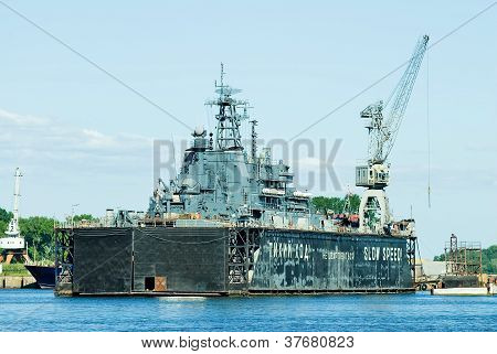 ship in the dry dock