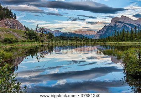 Dramatic Clouds Reflection In Vermilion Lake