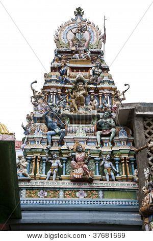 god statue at hindu temple