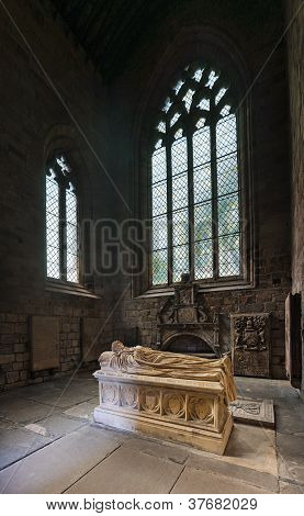 Tomb in Jedburgh Abbey, Scottish Borders