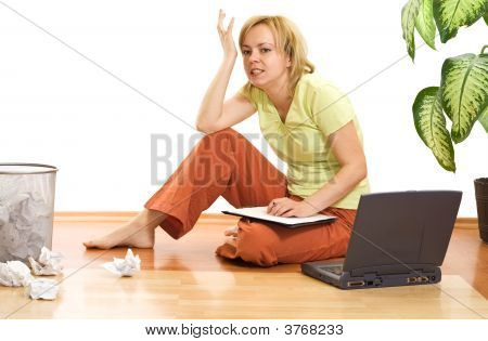 Woman Upset And Stressed