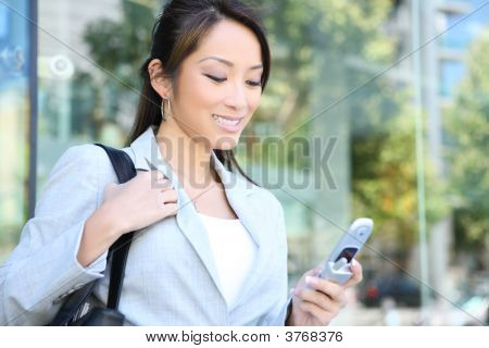 Pretty Business Woman Texting