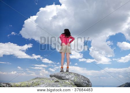 Woman On The Top Rock