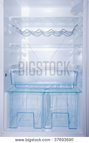 empty white fridge
