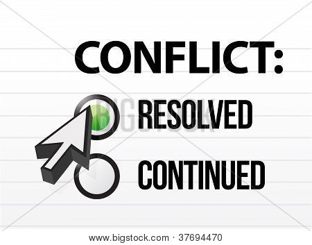 Conflict Resolved Question And Answer Selection