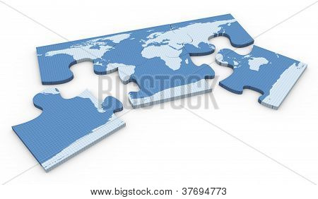 3D World Map Puzzle