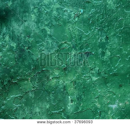 Grunge Green Paint Background Or Texture