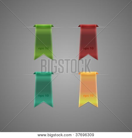 Set Of Sleek Web Ribbons