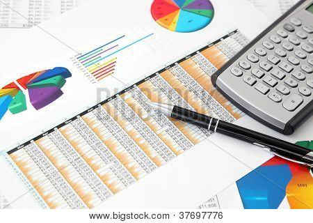 Investment Charts, Calculator and Pen