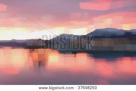 Cubic Sunset