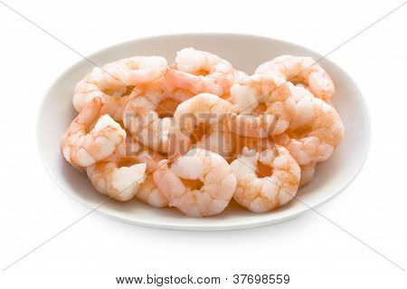 King Prawns Isolated On White