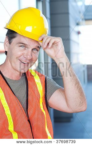 Portrait Of A Mature Construction Worker Outside