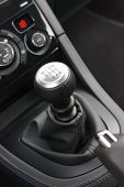 picture of gear-shifter  - Modern sports car six speed manual gear shifter - JPG
