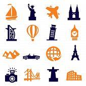 travel and landmarks poster