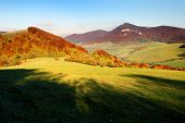 picture of hayfield  - autumnal view from Strazovske Vrchy Slovakia - Slovak Republic Europe