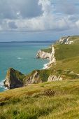 Dorset coast towards Durdle Door