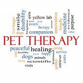 Постер, плакат: Животное терапии слово облако концепция