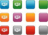 Постер, плакат: Цвет кнопки с Иконка Рукопожатие