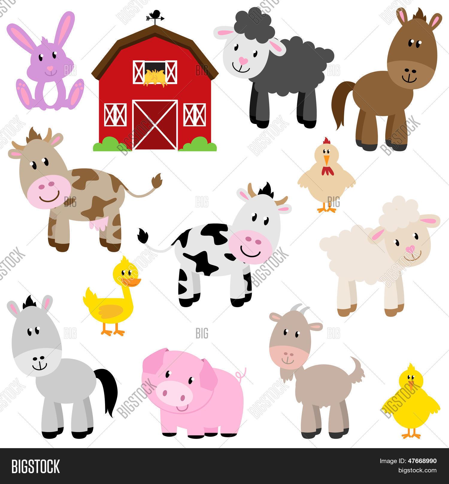 Vector Collection Cute Cartoon Vector & Photo | Bigstock