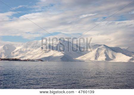 Winter Shore Of Van Lake, Turkey