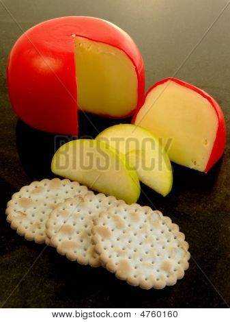 Cheese Biscuits And Apple
