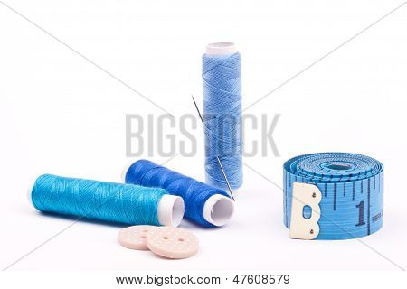 thread of spool and needle