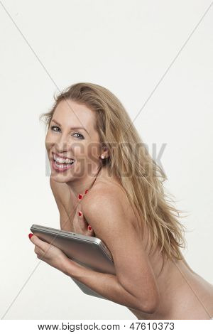 Vivacious Topless Woman