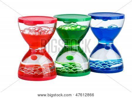 Three Gel Hourglasses