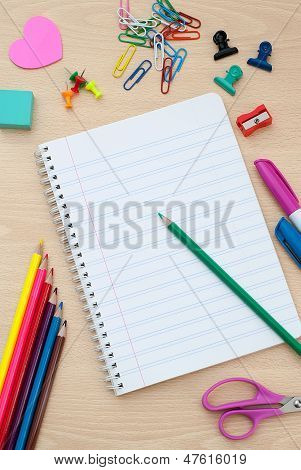Back To School Supplies With Accessories