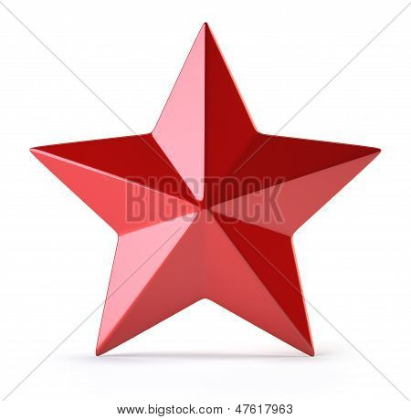 Red Star Isolated On White