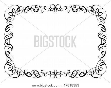 calligraphy ornamental decorative frame
