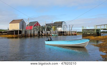 Fishing Shacks and Boats,Nova Scotia