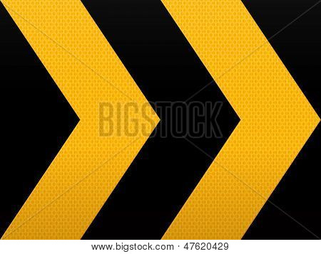 Seamless Yellow Black Arrow