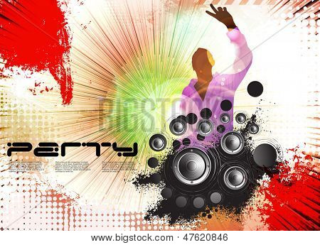 Discotheque illustration. Vector