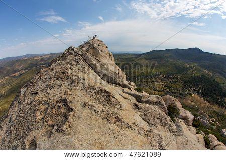 The rocky summit of Stonewall Peak