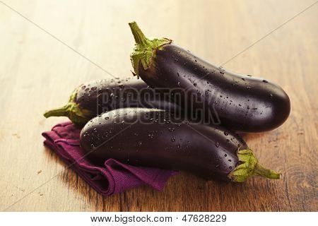 Raw Eggplants