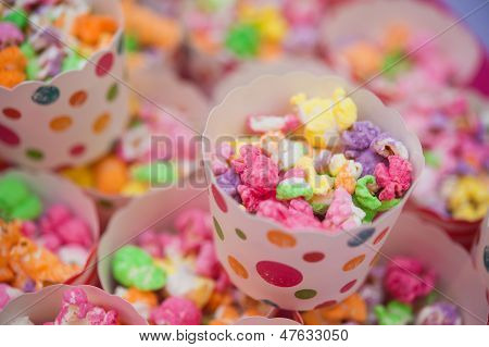 Farbige Popcorn
