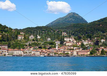 Panoramic view of Menaggio town (Como lake, Italy)