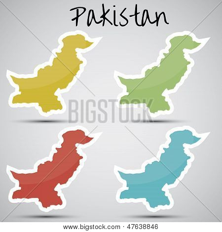 stickers in form of Pakistan