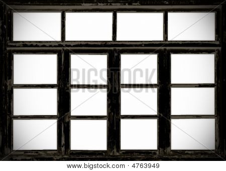 Old Wooden Barn Grunge Windows
