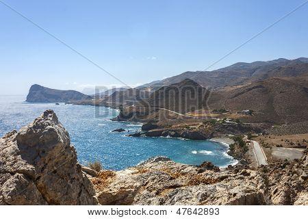 The beautiful sea at Lendas, Crete