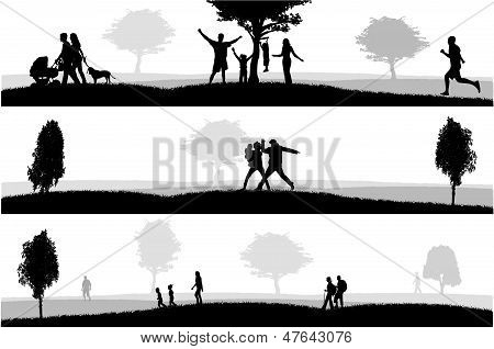 Outdoor Recreation.vector Illustration