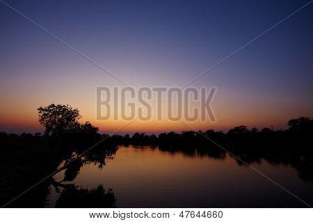 Sunrise On River
