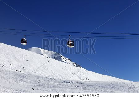 Gondola Lift And Ski Slope