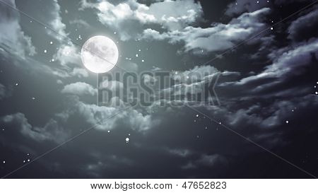 Halloween Moon And Dark Sky Wide