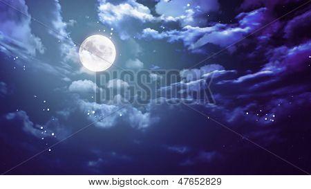 Ancho de la luna de Halloween