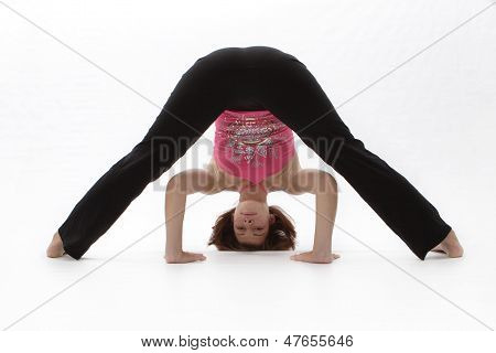 Woman Exercising Yoga For Heatlh