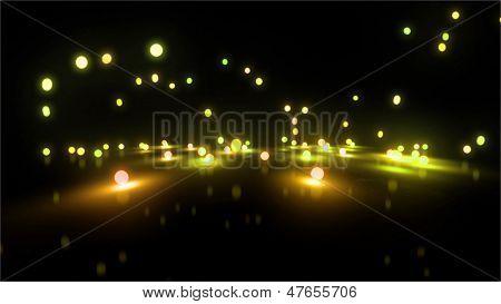 Gold Bouncing Light Balls