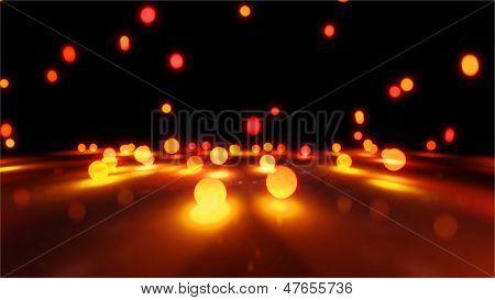 Orange Bouncing Light Balls